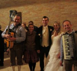Hochzeit Andrea u. Johannes 2014 Trio DIE TURBOS Rahaberg Hof
