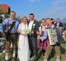 Hochzeit Martina & Edi, Ulrichshögl, Ainring mit Hochzeitstrio DIE TURBOS 2014