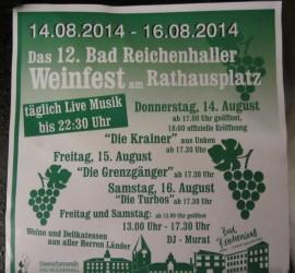 Weinfest Bad Reichenhall 2014 mit Trio DIE TURBOS